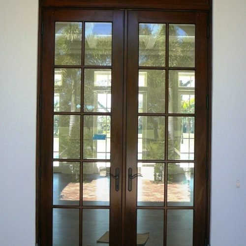 When a beautiful wood door is REALLY Aluminum